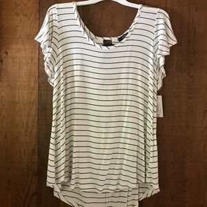 A.N.A. JCP Striped Tunic Lace-up Back XXL (18-20)